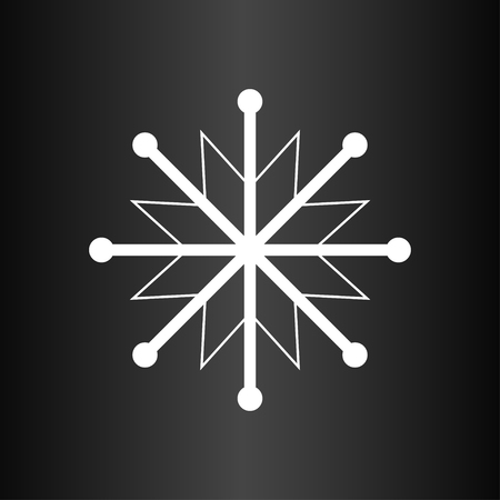 observance: Snowflake on the dark background Illustration