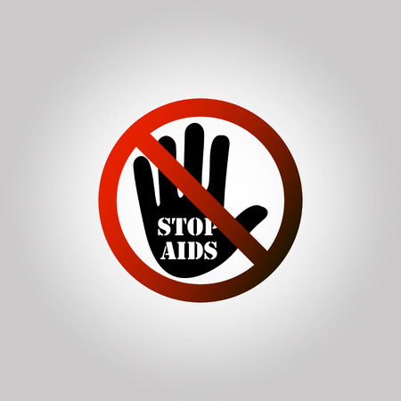 sexual intercourse: Stop aids icon