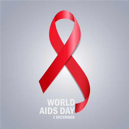aids awareness ribbon: The World Aids Day Illustration