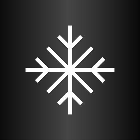 暗い背景に雪の結晶