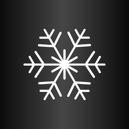 Snowflake on the dark background Illustration