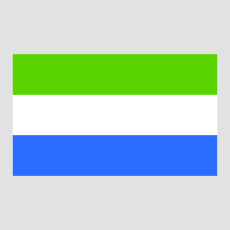 sierra leone: Flag of Sierra Leone Illustration