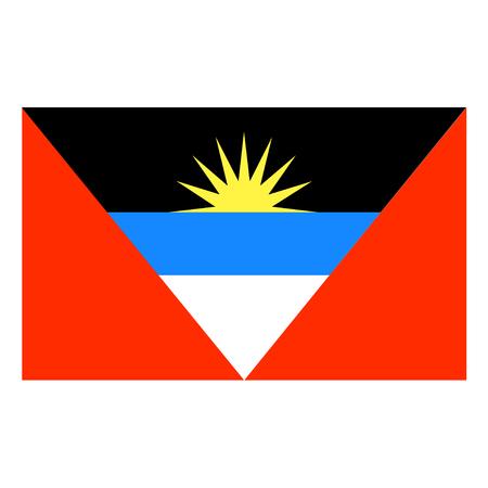 antigua and barbuda: Flag of Antigua and Barbuda