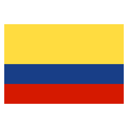 republic of colombia: Flag of Colombia Illustration
