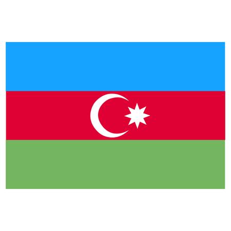 azerbaijanian: Flag of Azerbaijan Illustration