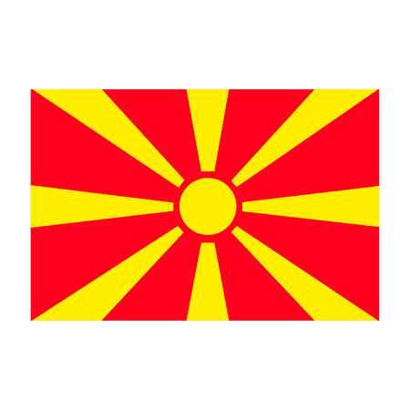 Flagge der Republik Mazedonien