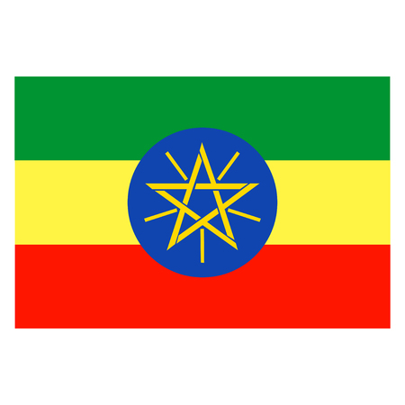 national flag ethiopia: Flag of Ethiopia Illustration