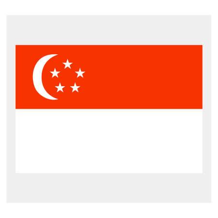 singaporean flag: Flag of Singapore Illustration