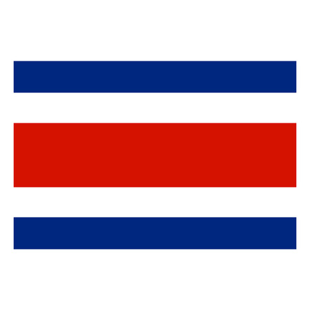 costa: Flag of Costa Rica Illustration
