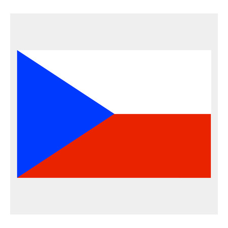 Czech Republic flag Ilustração