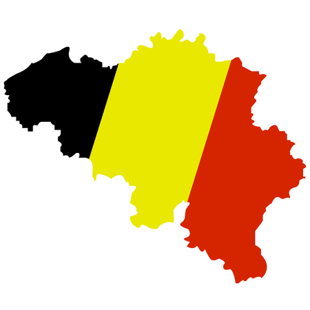Territory of Belgium on a white background