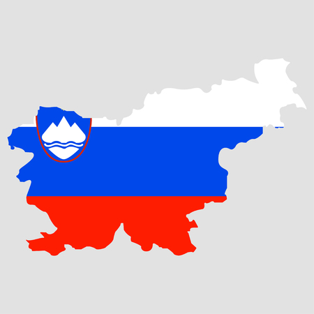 Territory of Slovenia on a background Illustration