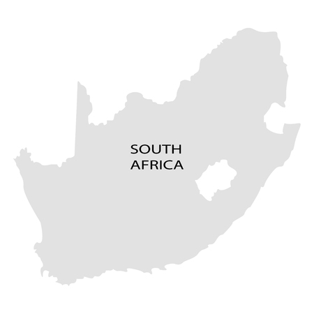 Territory of South Africa on a white background Illustration