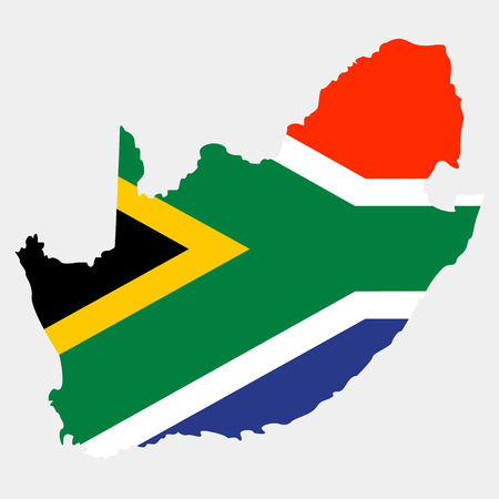 Territory of South Africa on a grey background Illustration