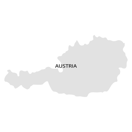 Territory of Austria on a white background
