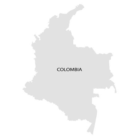 territory: Territory of Colombia on a white background