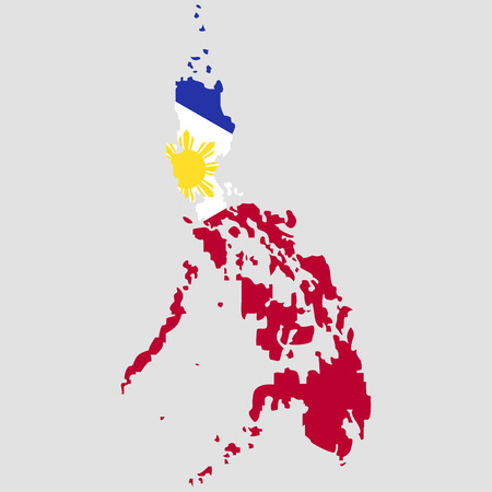 Territory of the Philippines on a grey background