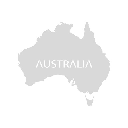 australian culture: Territory of Australian on a grey background Illustration