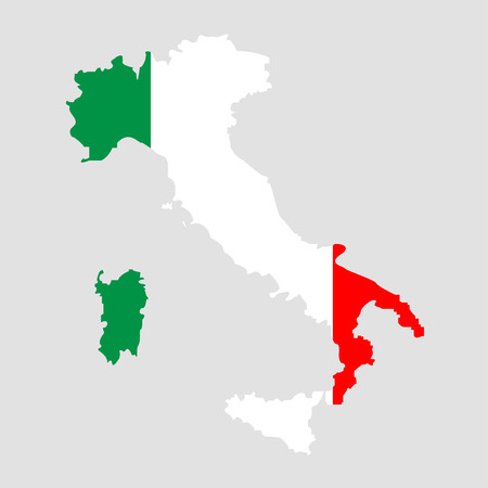 Territory of Italy on a grey background