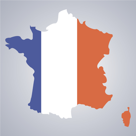 territory: Territory of France on a grey background Illustration