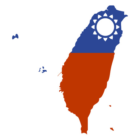 Territory of Taiwan on a white background