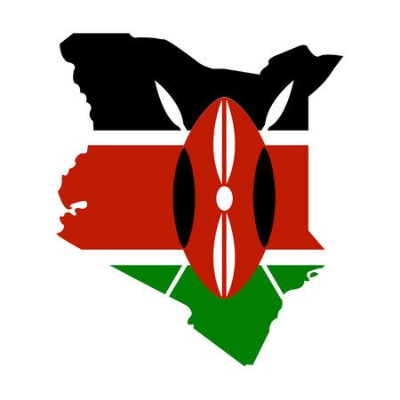 kenya: Territory of Kenya on a white background