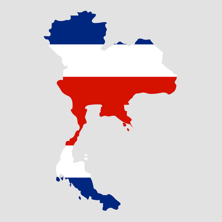 Territory of Thailand on a grey background