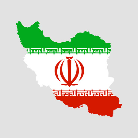 Territory of Iran on a grey background