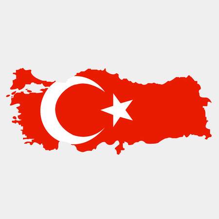 Territory of Turkey on a grey background