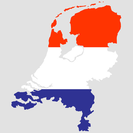 Territory of the Netherlands on a grey background