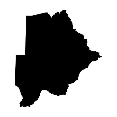 territory: Territory of Botswana on a white background