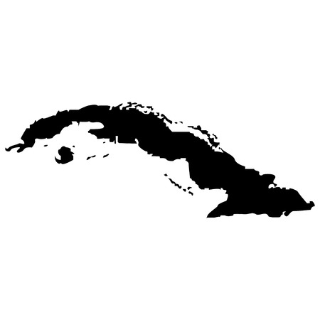 Territory of Cuba on a white background