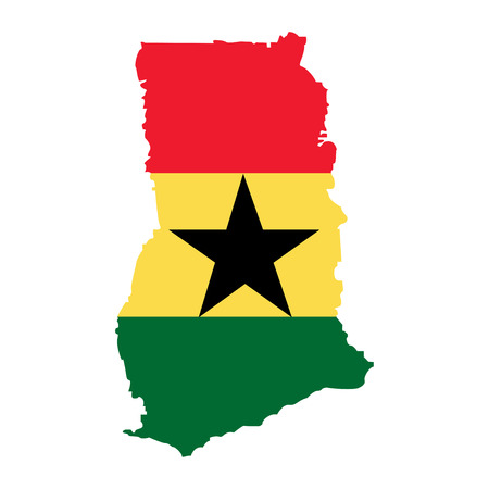 Territory of Ghana on a white background