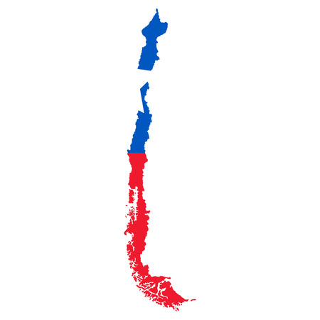 Territory of Chile on a white background Illustration