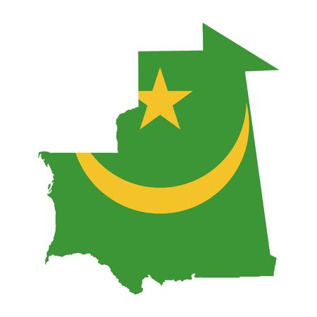 mauritania: Territory and flag of Mauritania