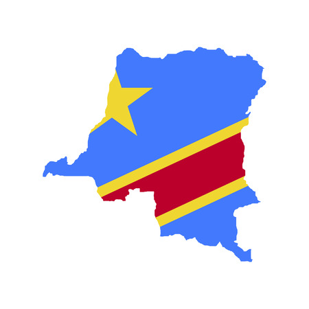 Territory and flag of the Democratic Republic of the Congo