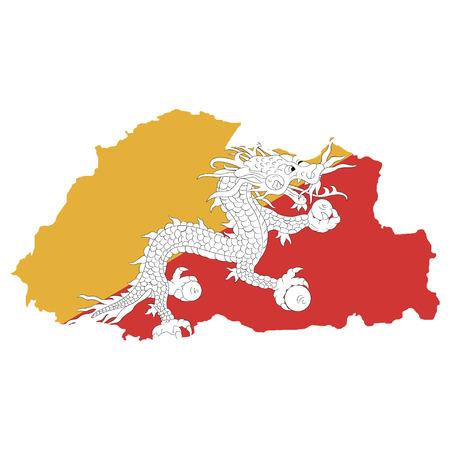 bhutan: Territory and flag of Bhutan