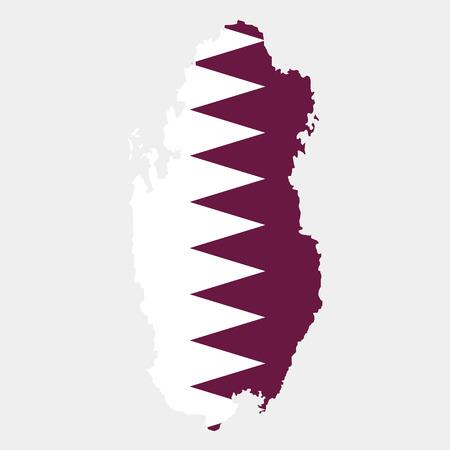 Territory and flag of Qatar