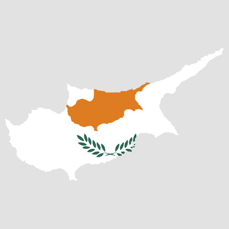 Territory and flag of Cyprus
