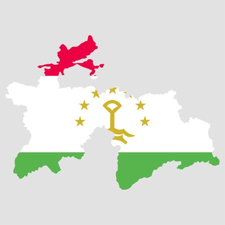 territory: Territory and flag of Tajikistan