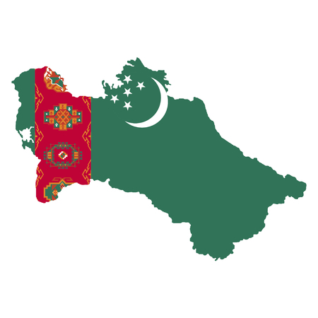 territory: Territory and flag of Turkmenistan
