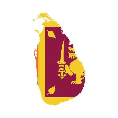Territory and flag of Sri Lanka