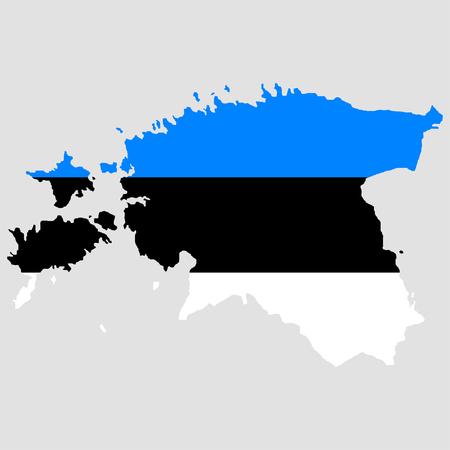 estonia: Territory and flag of Estonia