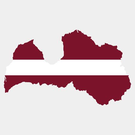 territory: Territory and flag of Latvia Illustration