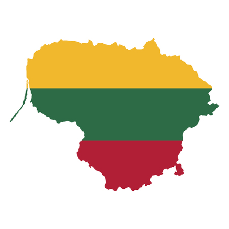Territory and flag of Lithuania