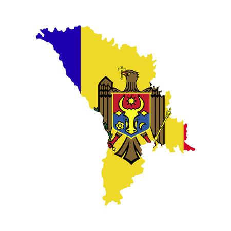 moldova: Territory and flag of Moldova