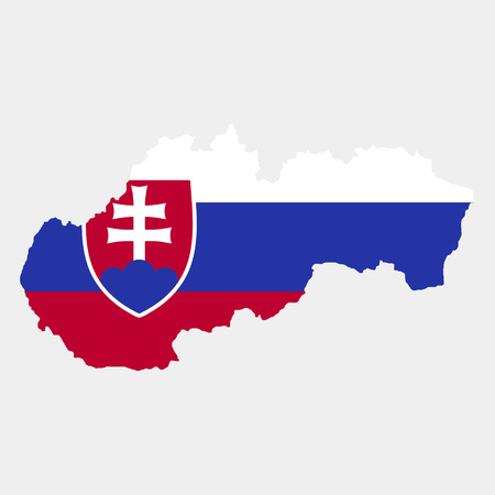 territory: Territory and flag of Slovakia Illustration