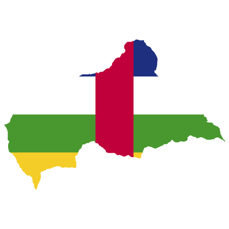 Territory and flag of Central African Republic