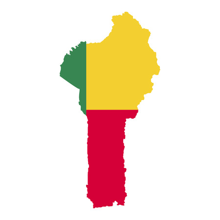 Territory and flag of Benin