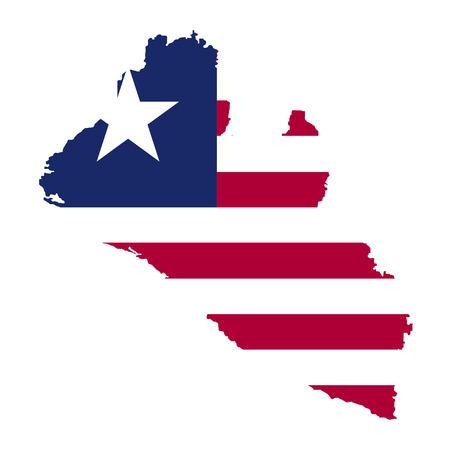 Territory and flag of Liberia